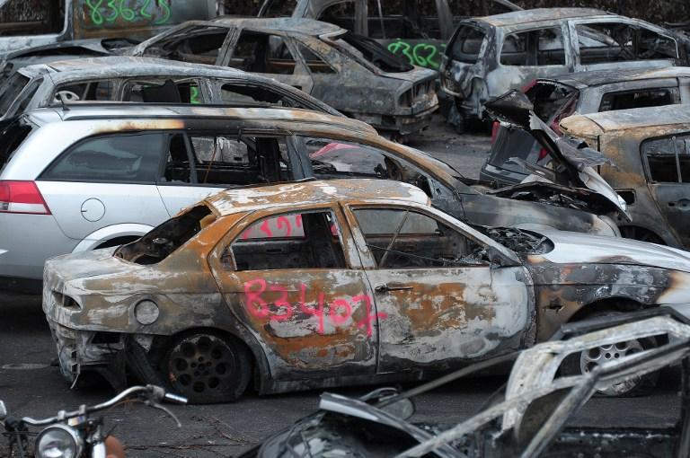 Torched Cars